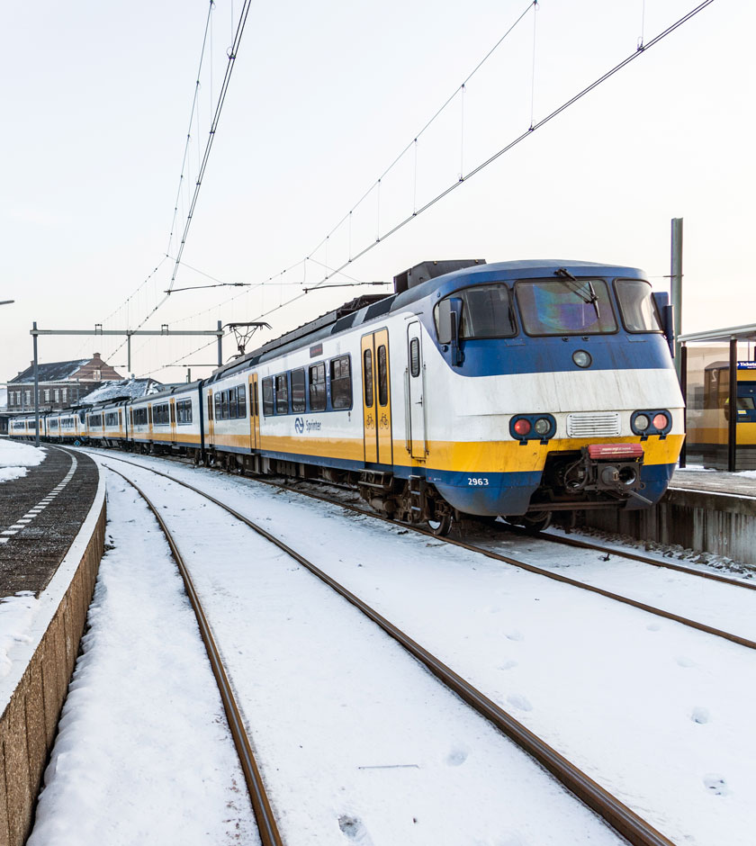 Illustratie: foto van station Hoek van Holland Haven in de sneeuw